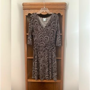 Maggy L long sleeve brown dress size 12